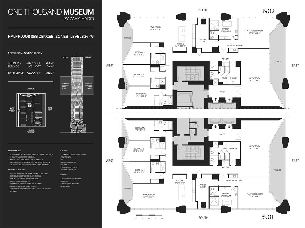1000 Museum - Unit #Townhouse 1002-Level 10-11 with 8060 SF