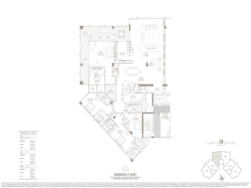 Palazzo Del Sol - Unit #C West with 4956 SF