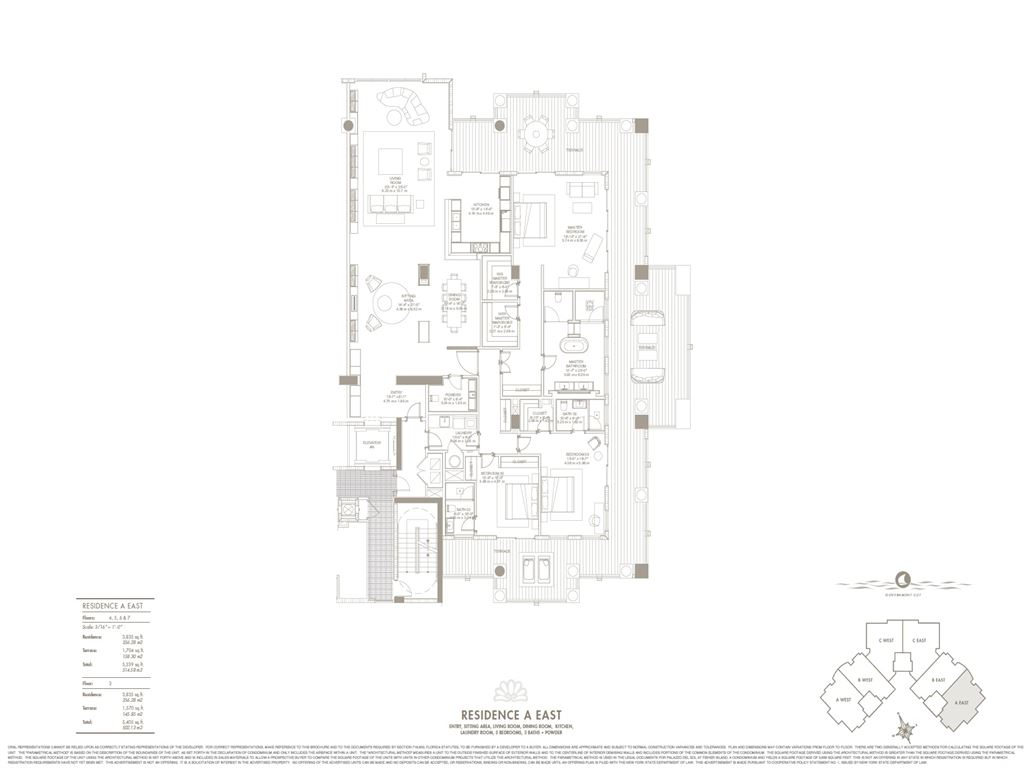 Palazzo Del Sol - Unit #A East with 3835 SF