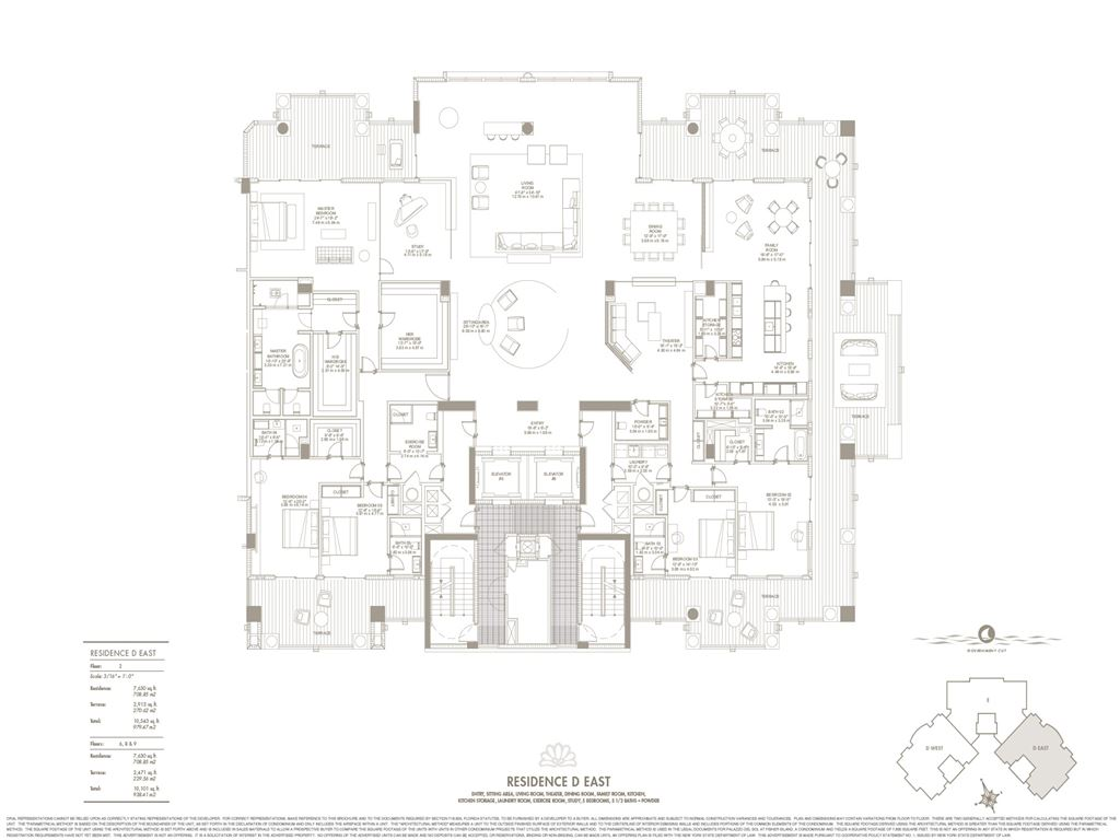 Palazzo Del Sol - Unit #D East with 7630 SF