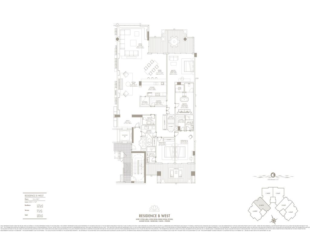 Palazzo Del Sol - Unit #B West with 3793 SF