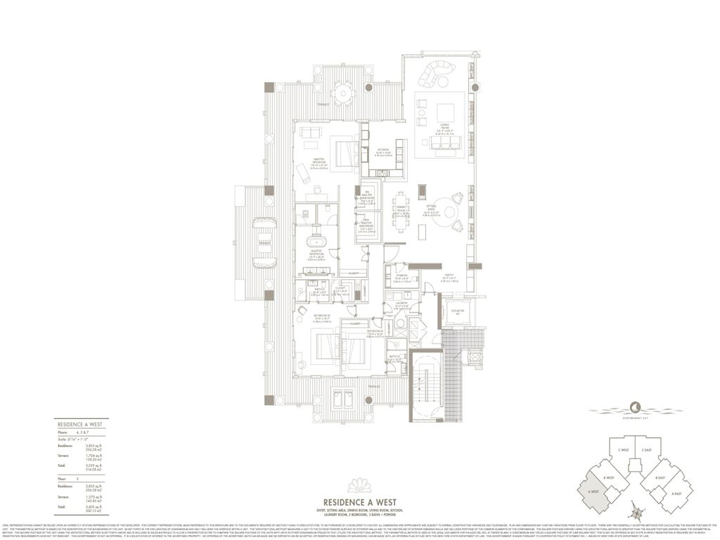 Palazzo Del Sol - Unit #A West with 3835 SF