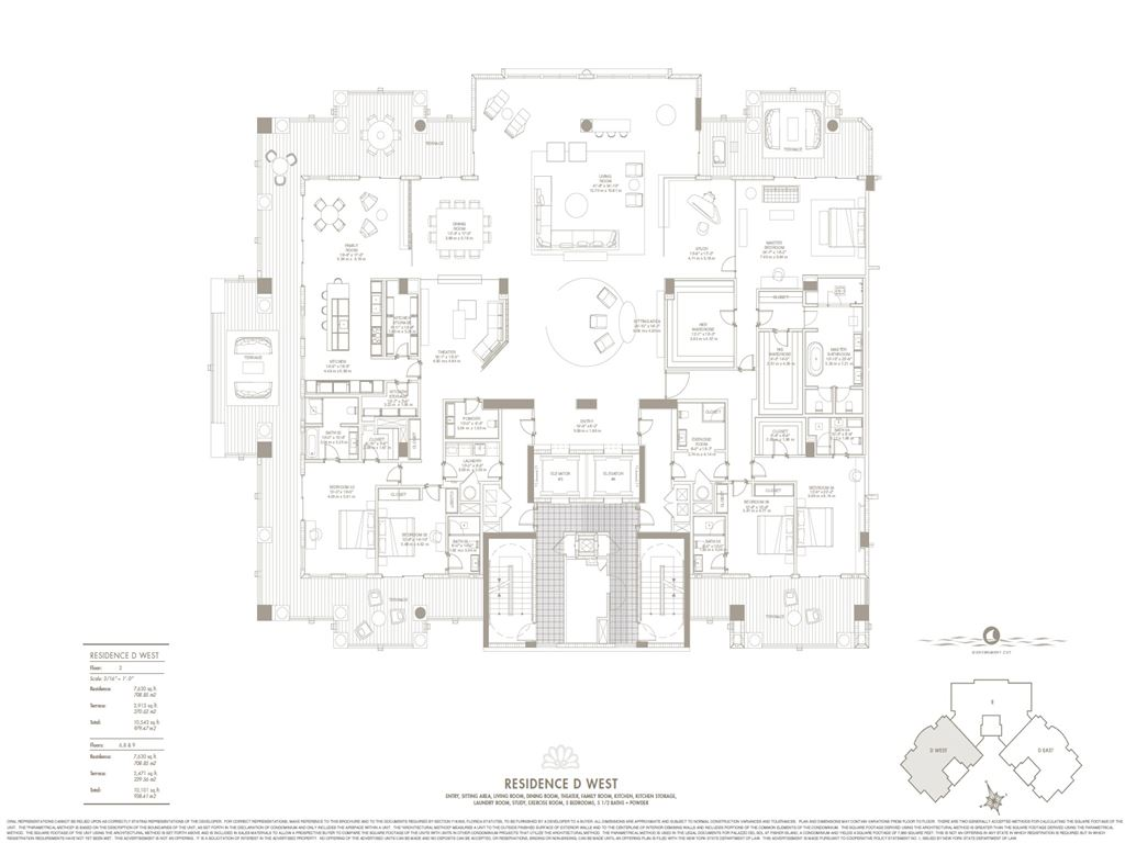 Palazzo Del Sol - Unit #D West with 7630 SF