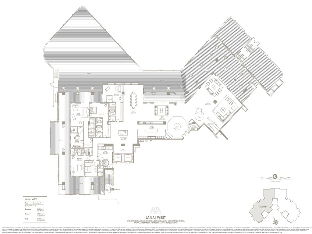 Palazzo Del Sol - Unit #Lanai West with 8680 SF