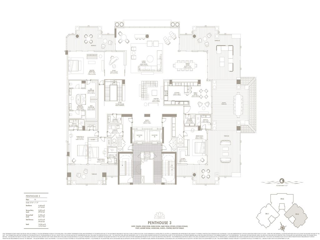 Palazzo Del Sol - Unit #PH3 East with 6644 SF