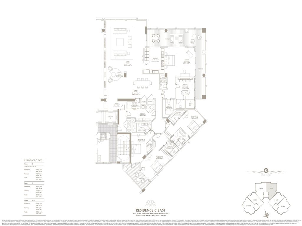 Palazzo Del Sol - Unit #C East with 4956 SF
