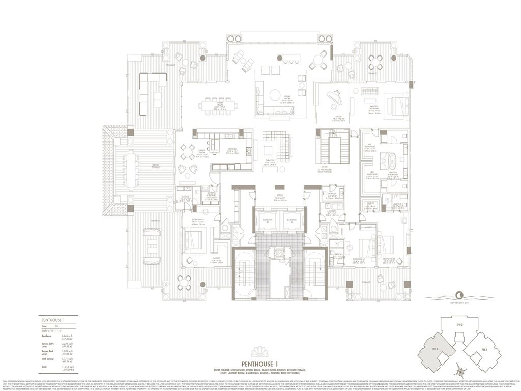 Palazzo Del Sol - Unit #PH1 West with 6644 SF