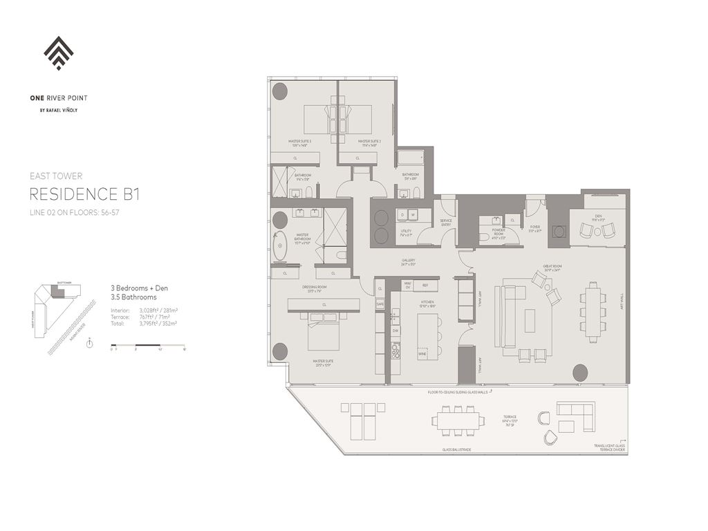 One River Point - Unit #02-E-Floors-56-57 with 3028 SF