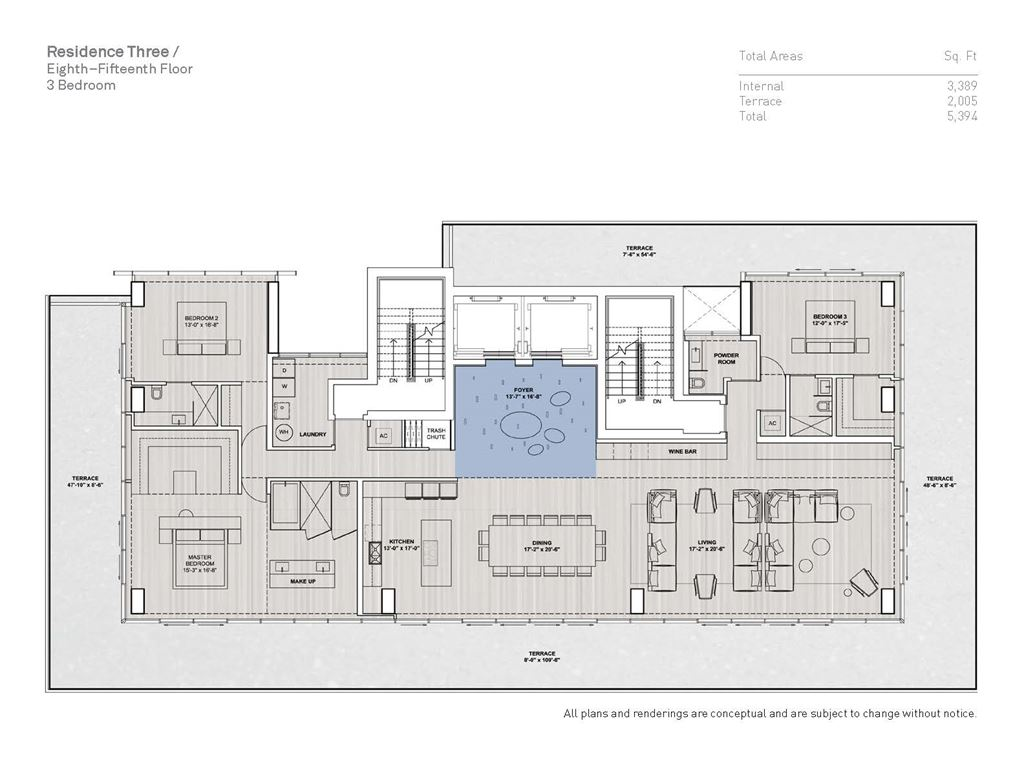Glass Miami Beach - Unit #03A-Floors 8-15 with 3389 SF