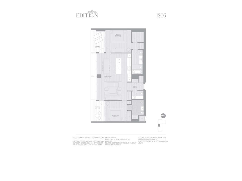 EDITION Miami Beach Residences - Unit #1205 with 1575 SF