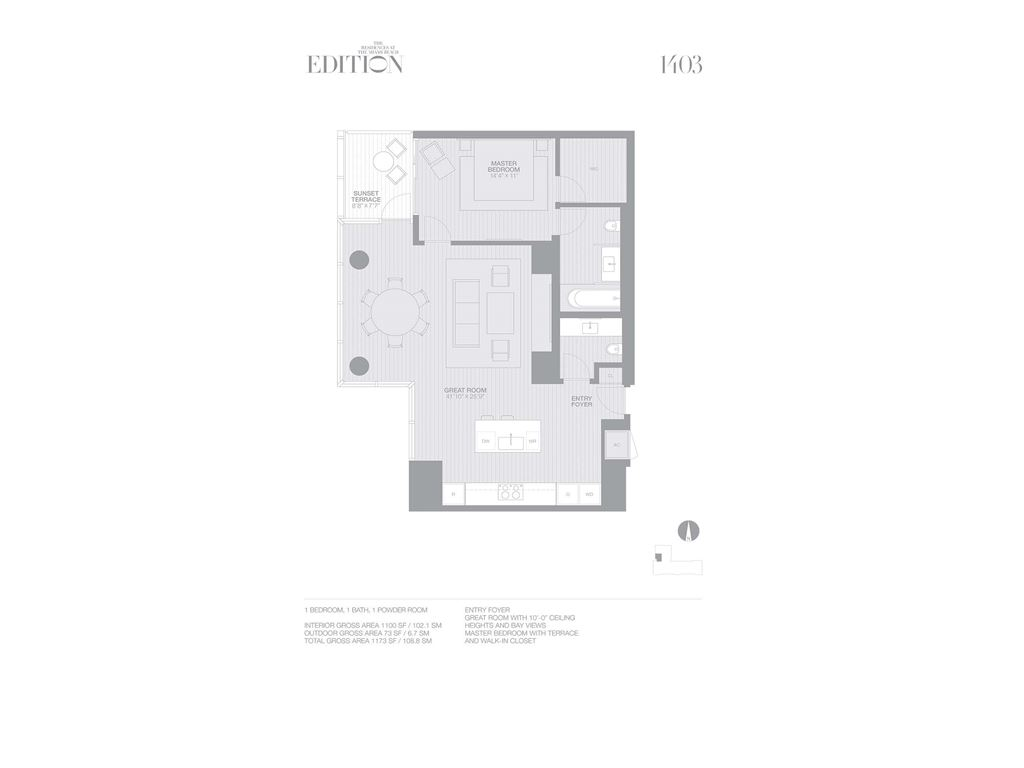 EDITION Miami Beach Residences - Unit #1403 with 1100 SF