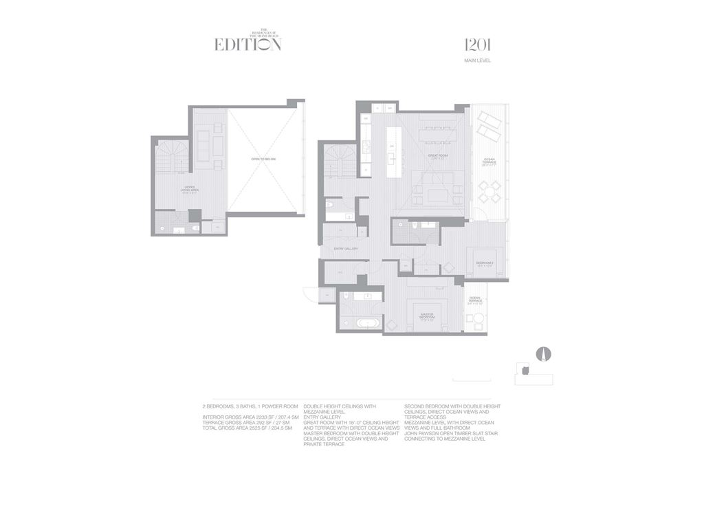 EDITION Miami Beach Residences - Unit #1201 with 2233 SF