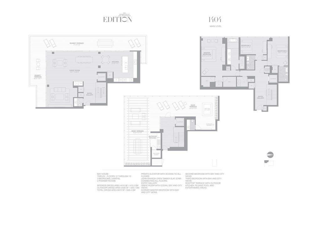 EDITION Miami Beach Residences - Unit #1404 with 4416 SF