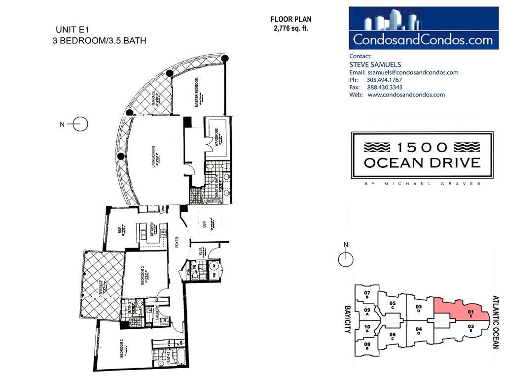 1500 ocean drive condos for sale south beach condo sales for 1500 ocean drive floor plans