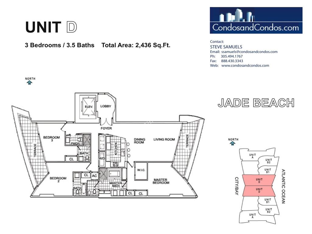 Jade Beach - Unit #D with 2436 SF