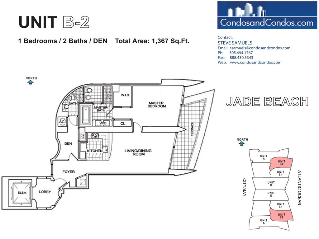 Jade Beach - Unit #B2 with 1367 SF