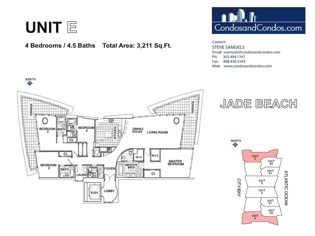 Jade Beach - Unit #E with 3211 SF