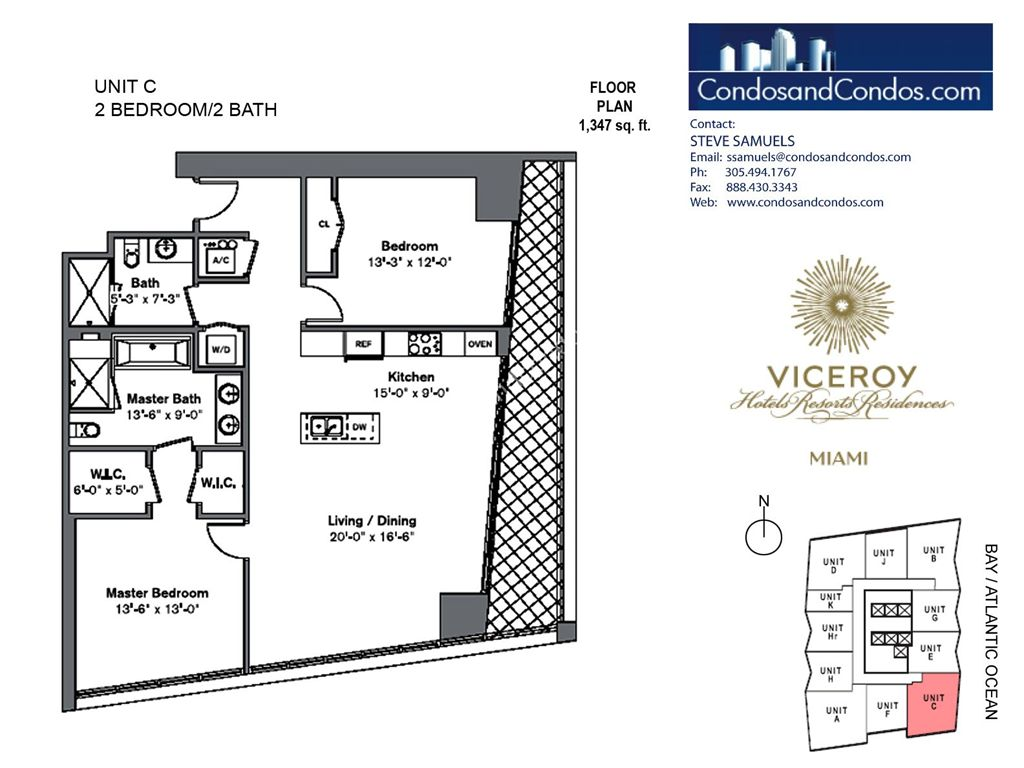 Icon Brickell III (W Miami) - Unit #C with 1347 SF