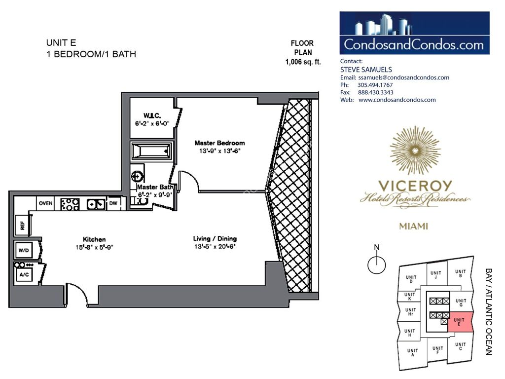 Icon Brickell III (W Miami) - Unit #E with 1006 SF