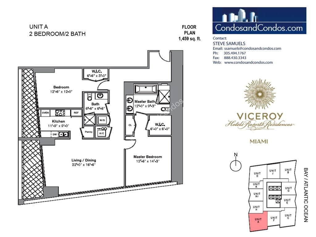 Icon Brickell III (W Miami) - Unit #A with 1459 SF