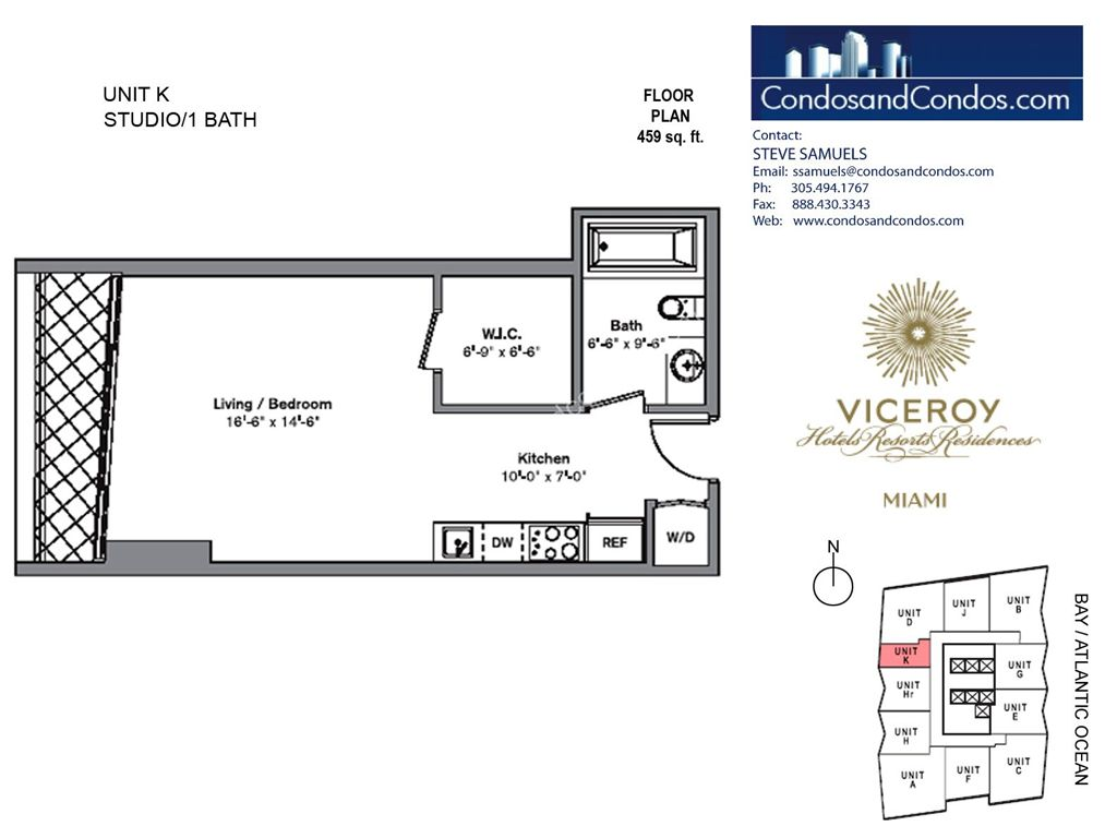 Icon Brickell III (W Miami) - Unit #K with 459 SF