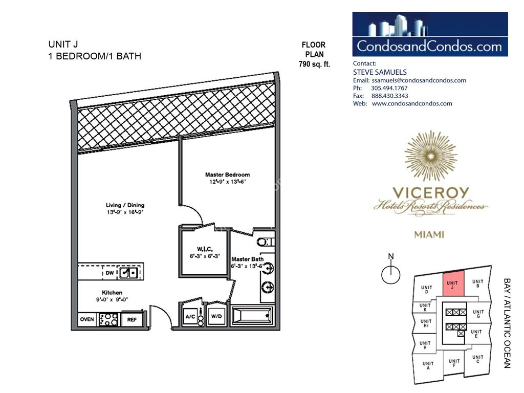 Icon Brickell III (W Miami) - Unit #J with 790 SF