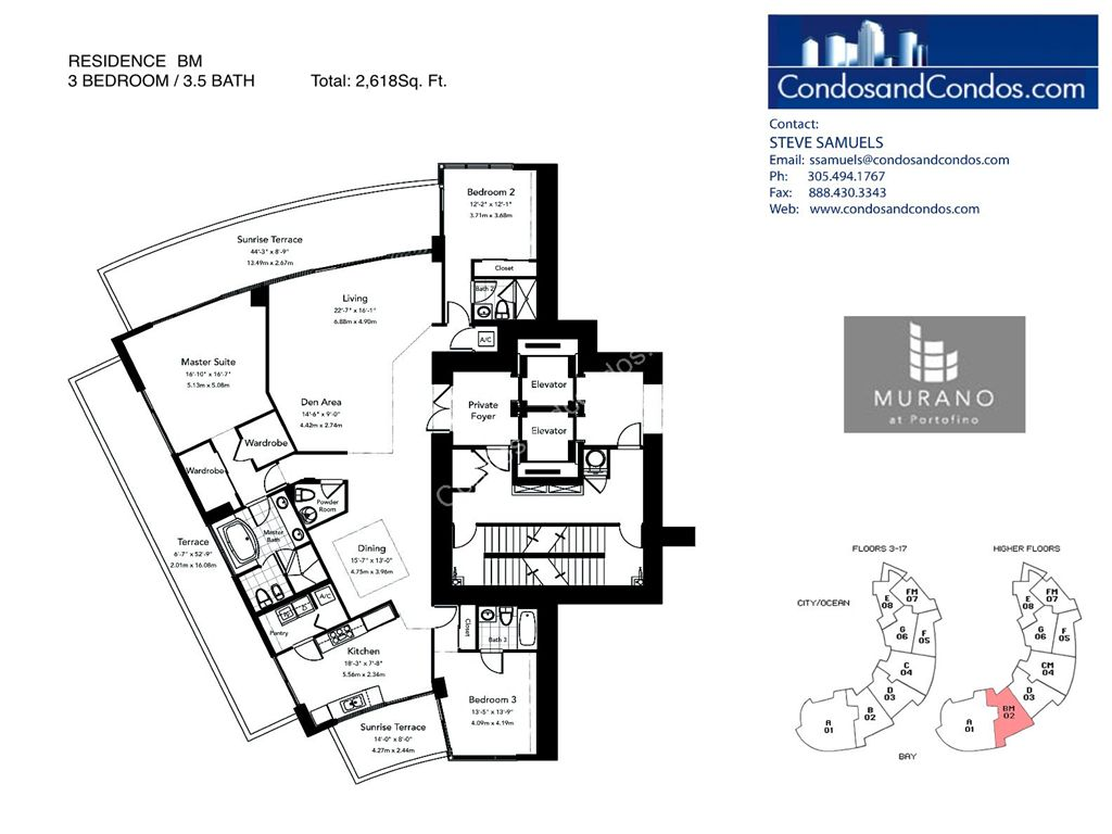 Murano at Portofino - Unit #BM with 2618 SF