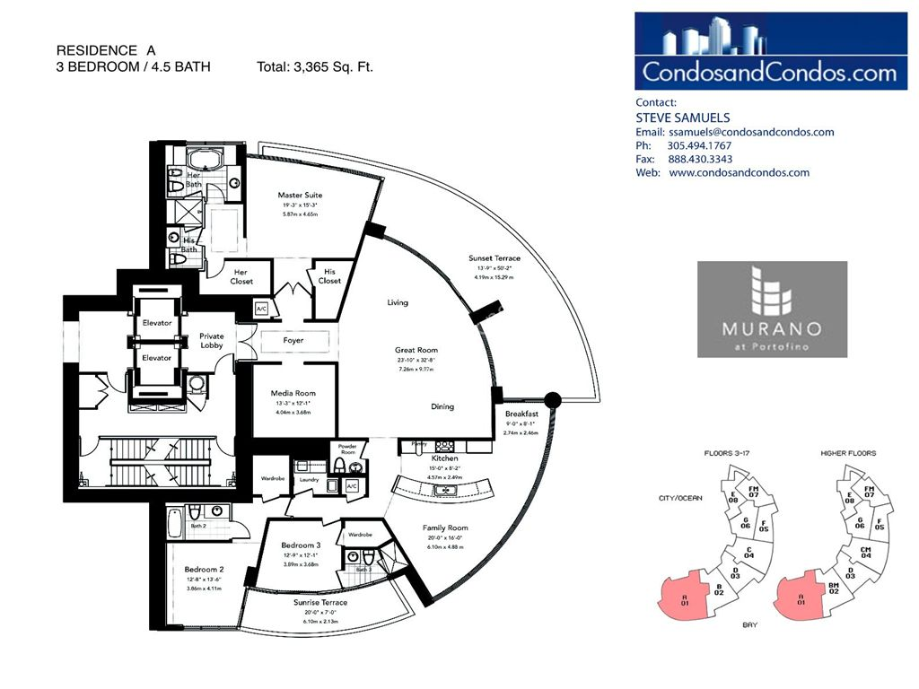 Murano at Portofino - Unit #A with 3365 SF