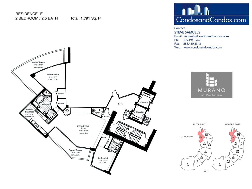 Murano at Portofino - Unit #E with 1791 SF