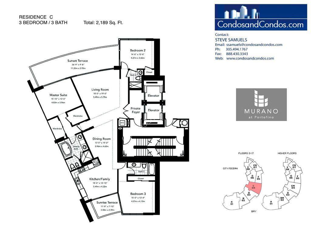 Murano at Portofino - Unit #C with 2189 SF