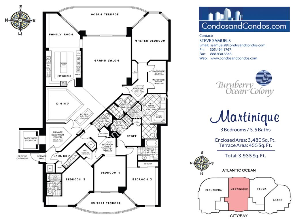 Turnberry Ocean Colony North - Unit #Martinique with 3935 SF