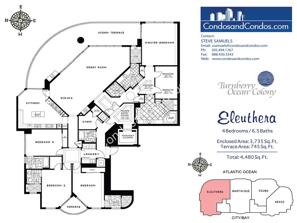 Turnberry Ocean Colony North - Unit #Eleuthera with 4480 SF