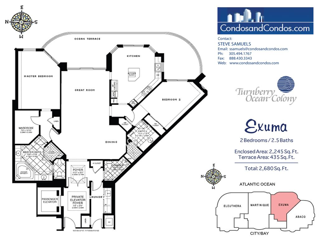 Turnberry Ocean Colony North - Unit #Exuma with 2680 SF