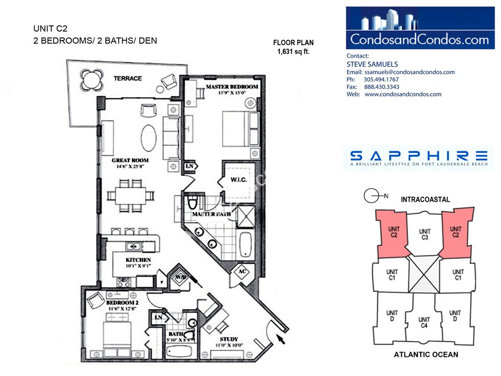 Sapphire - Unit #C2 with 1631 SF