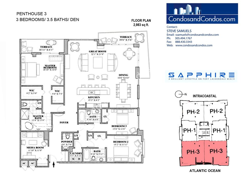 Sapphire - Unit #Penthouse 03 with 2983 SF