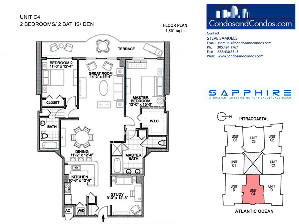 Sapphire - Unit #C4 with 1851 SF