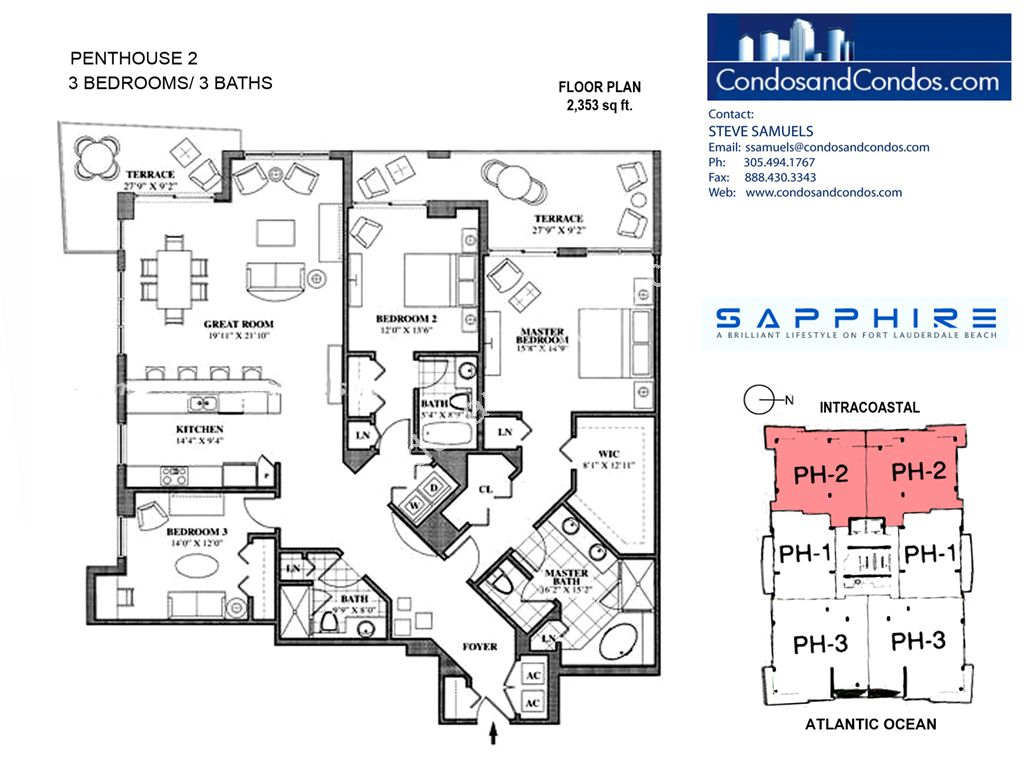 Sapphire - Unit #Penthouse 02 with 2353 SF