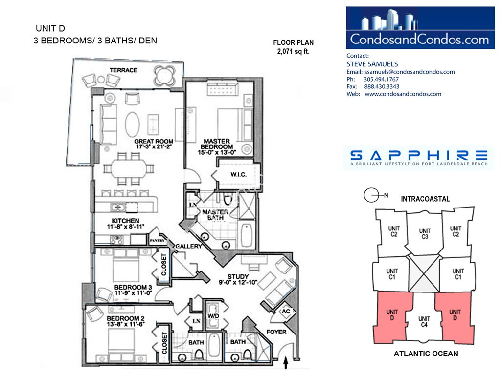 Sapphire - Unit #D with 2071 SF