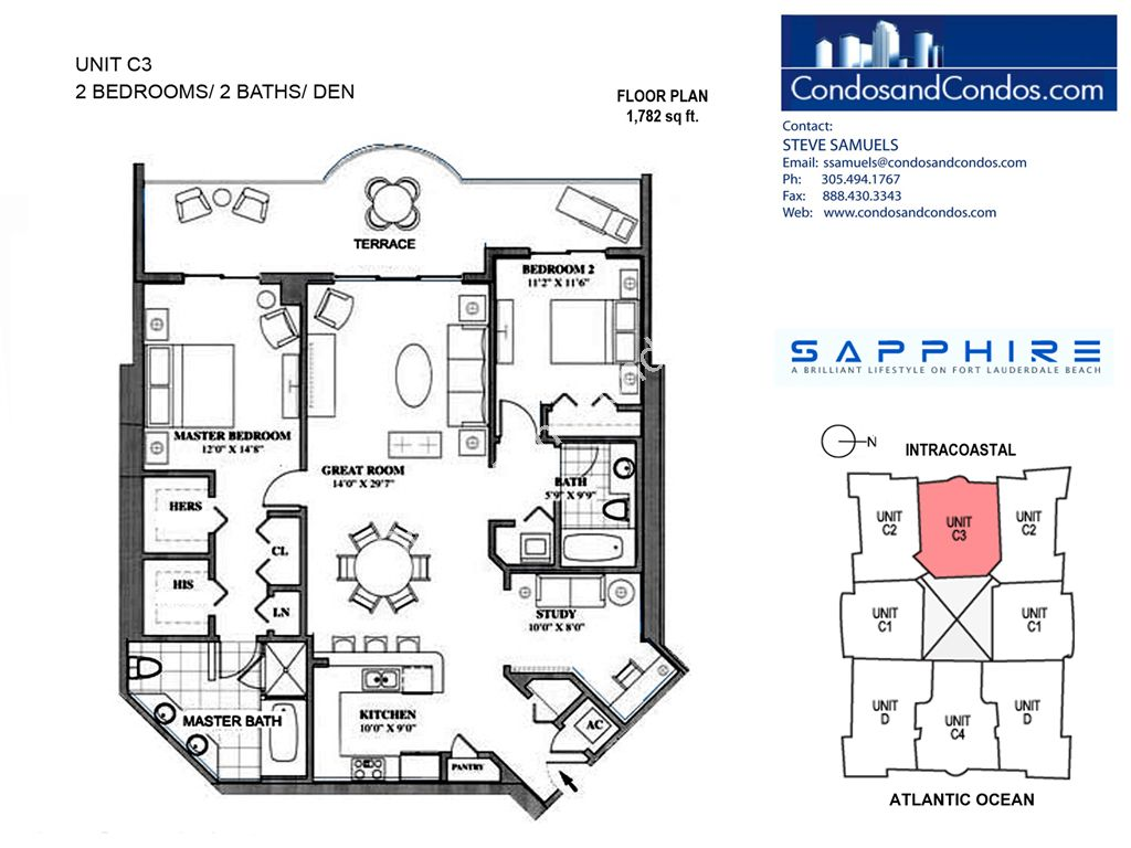 Sapphire - Unit #C3 with 1782 SF