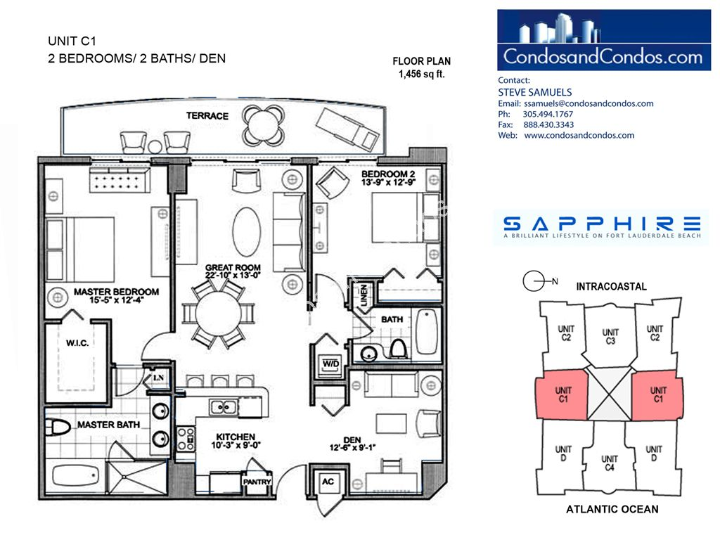 Sapphire - Unit #C1 with 1456 SF