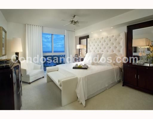 Master suite with city and ocean view