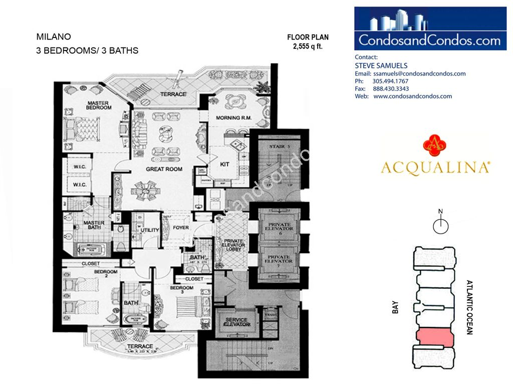 Acqualina - Unit #Milano 05 with 2555 SF