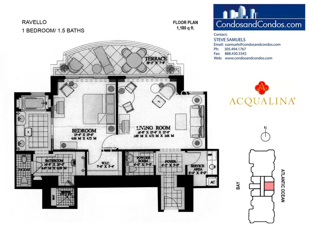 Acqualina - Unit #Ravello with 1180 SF