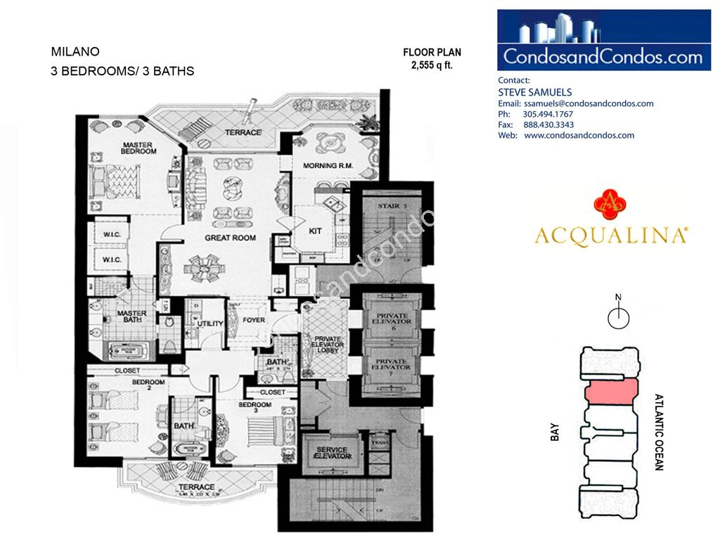 Acqualina - Unit #Milano 02 with 2555 SF