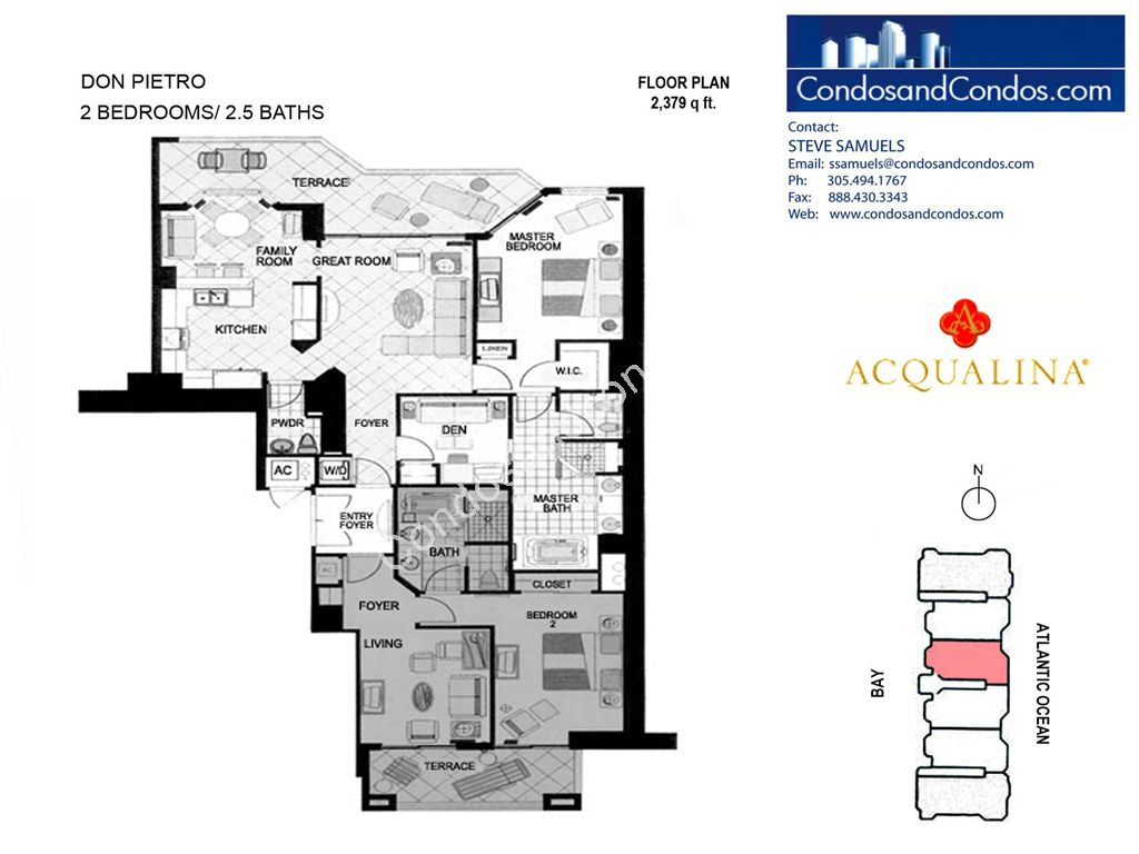 Acqualina - Unit #Don Pietro 03 with 2379 SF