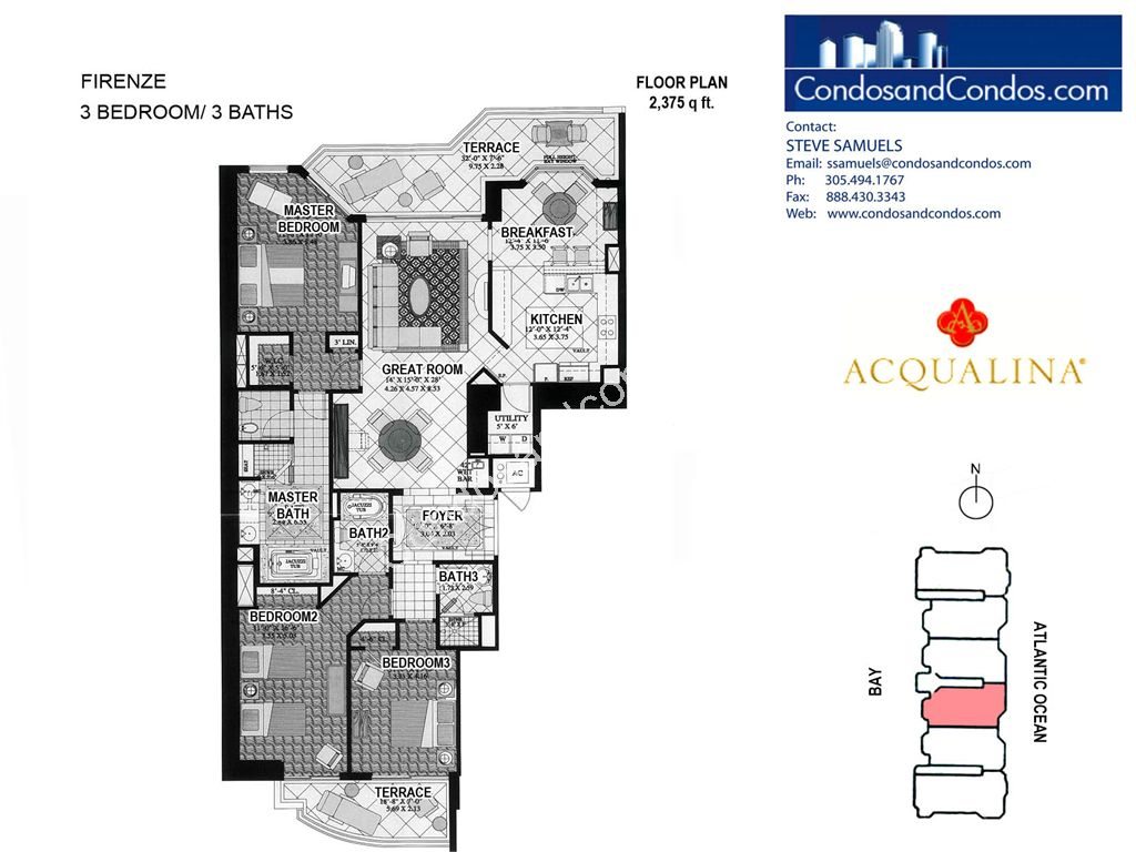 Acqualina - Unit #Firenze 04 with 2375 SF