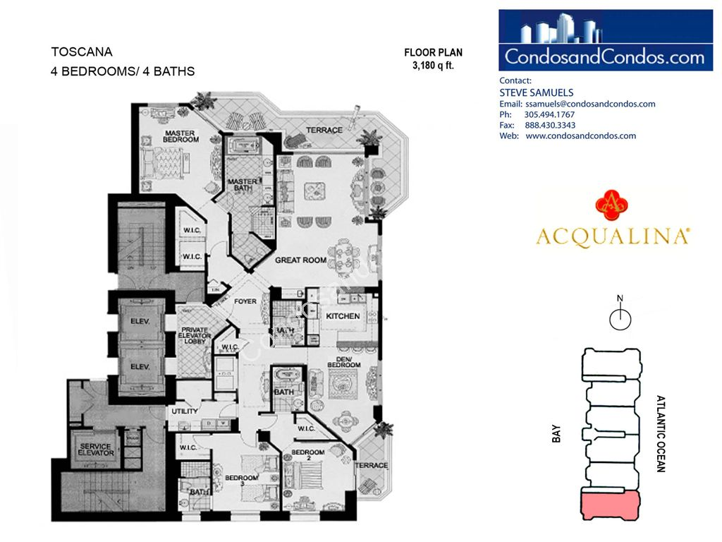 Acqualina - Unit #Toscana 06 with 3180 SF