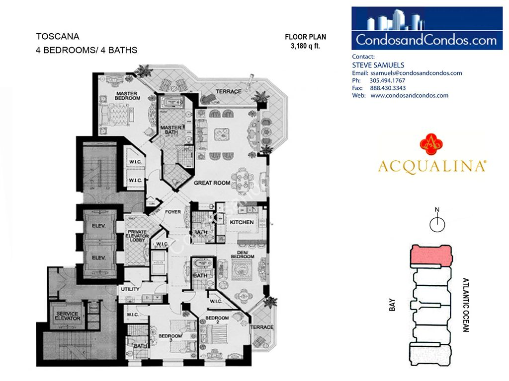 Acqualina - Unit #Toscana 01 with 3180 SF
