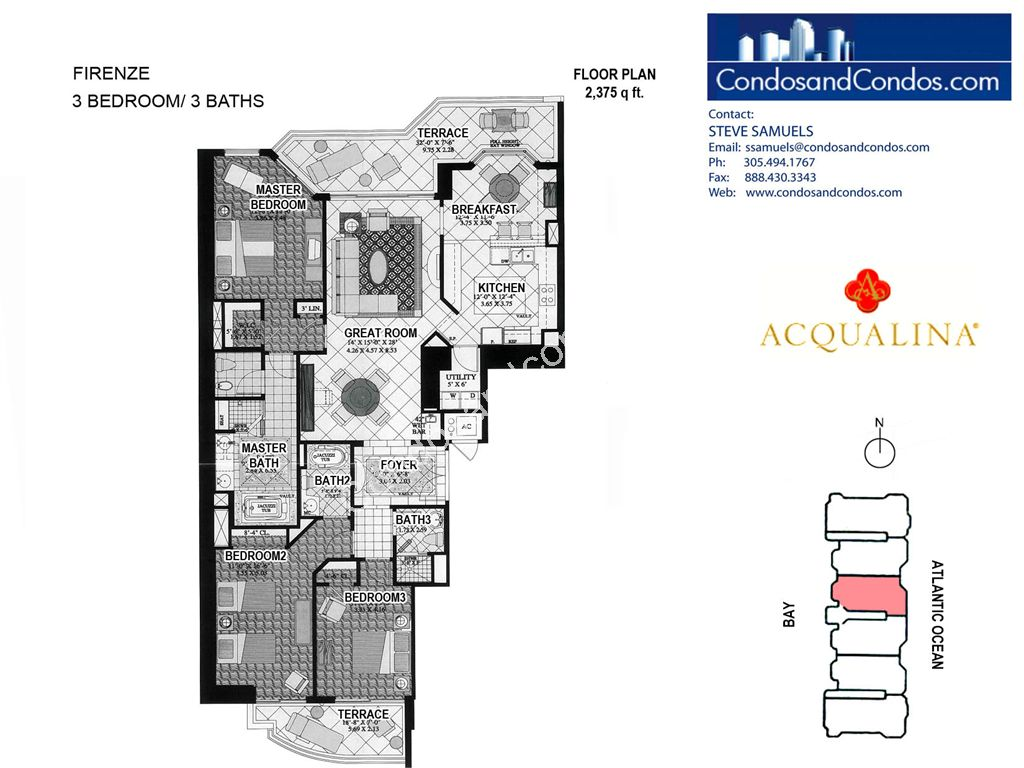 Acqualina - Unit #Firenze 03 with 2375 SF