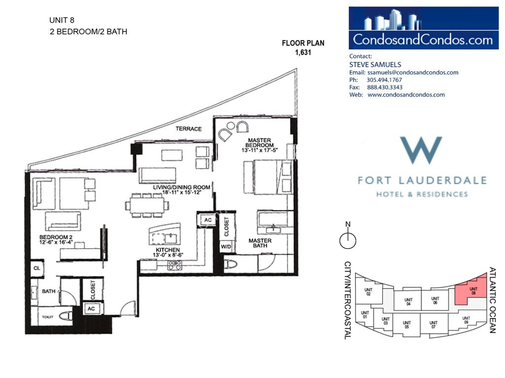 W Residences Ft Lauderdale - Unit #8 with 1631 SF